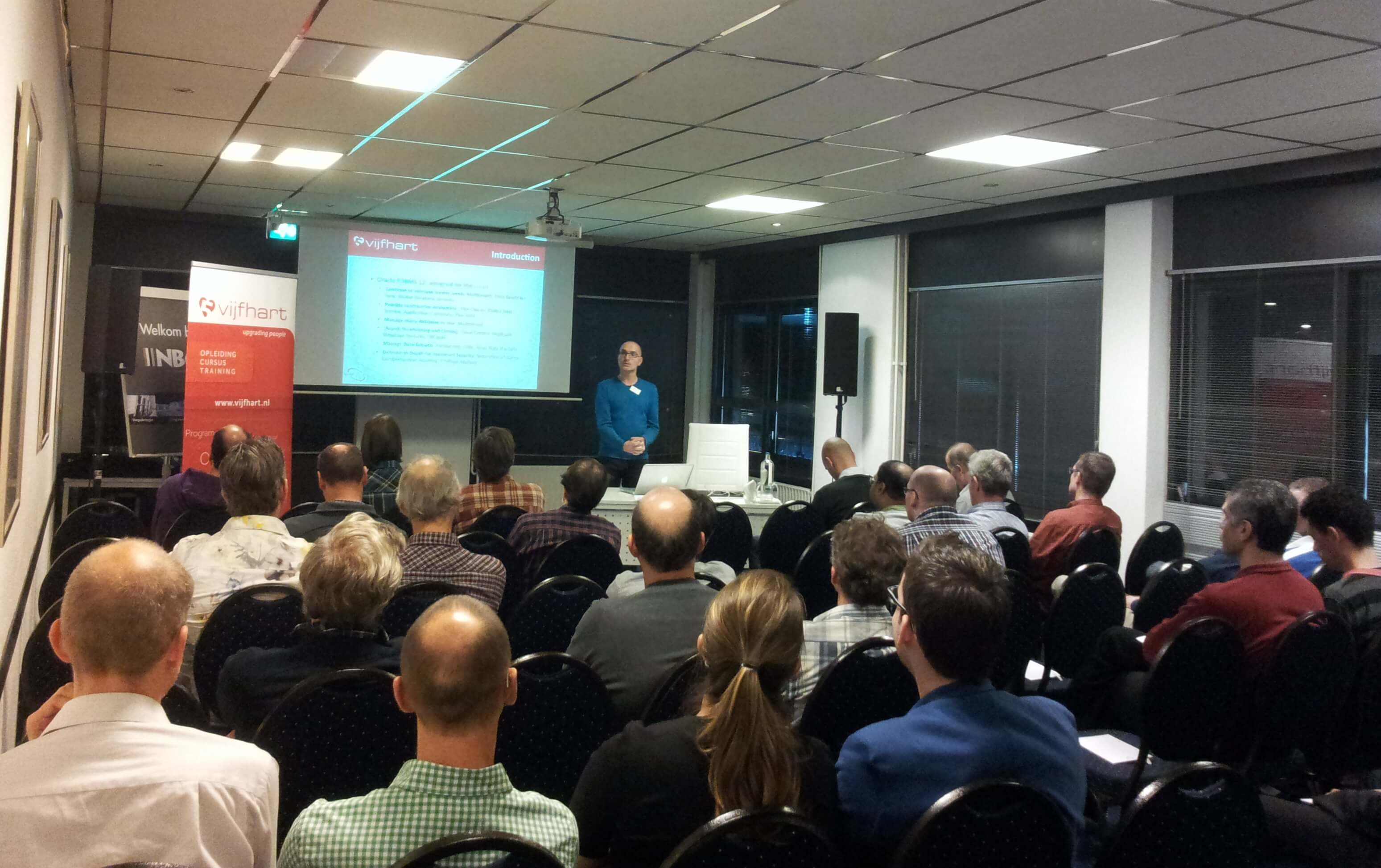 Sfeerimpressie Oracle Database 12c Thema-avond