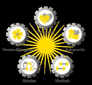 5 pijlers van geluk